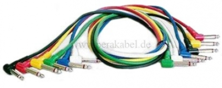 Set-6 Patchkabel--Klinkenstecker gewinkelt