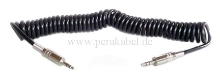 Patchkabel-Spiralkabel Miniklinkenstecker 3,5mm stereo