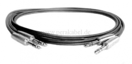 Zwillings-Kabel Klinkenstecker 6,3mm stereo (S)